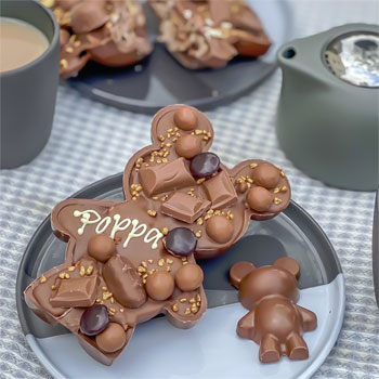 Personalised Belgian Chocolate Loaded Papa & Baby Bear