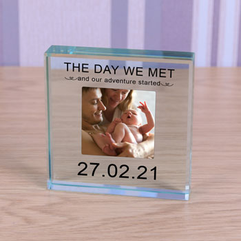 Personalised Glass Photo Token - The Day We Met