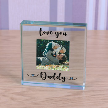 Glass Photo Upload Love You Dad/Daddy Token