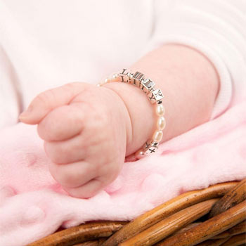 Personalised Pearl Christening or Holy Communion Bracelet