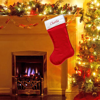 Personalised Giant Red Christmas Stocking