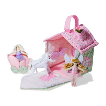 Pretty Fabric Fairy Cottage by Oskar and Ellen